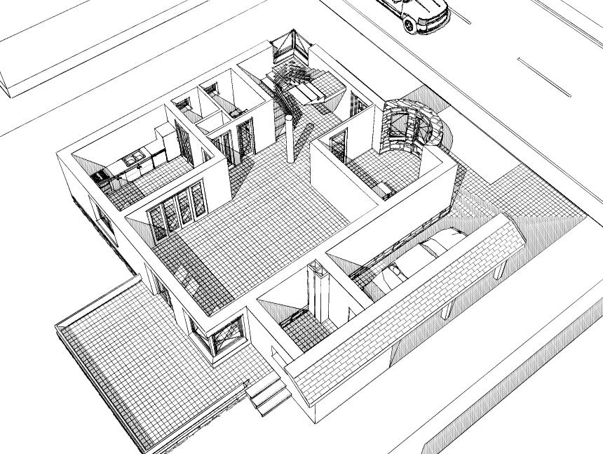 Proiect de casă cu mansardă- Casa Luca- 3